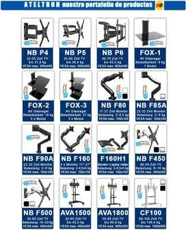 Bases soportes tv led lcd  gran variedad de cables accesorios.