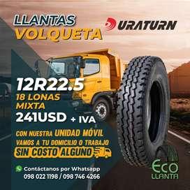 LLANTAS PARA VOLQUETA - DURATURN!!!  12 R22,5 - 12 LONAS MIXTA