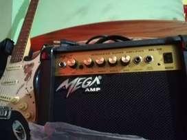 Vendo guitarra electrica y amplificador Mega