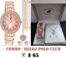 Reloj de Negocios Casual para Mujer Marca Polo Beverley Hills Polo Club.