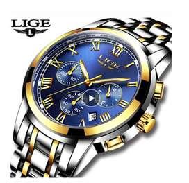 Relojes de acero para hombres Marca LIGE
