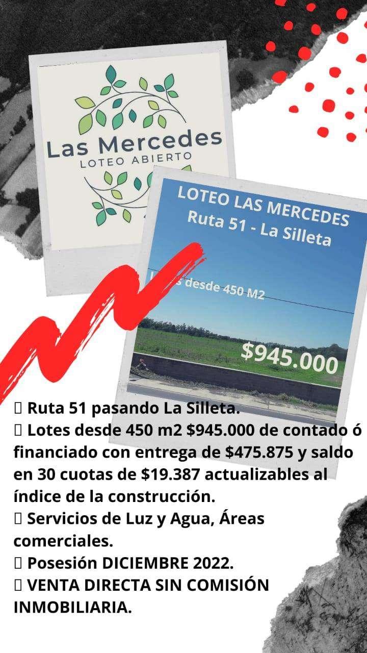 LOTEO LAS MERCEDES EN SALTA, RUTA 51 LA SILLETA-INVERTI HOY EN TU PRIMER TERRENO FINANCIADO-ANTICIPO+CUOTAS EN PESOS