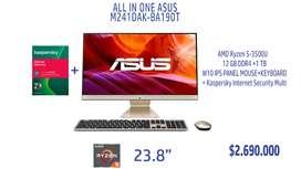 """All In One Asus Vivo Aio 23,8"""" M241DAK-BA190T Amd Ryzen 5 3500U 4Gb 1 TB Windows 10"""