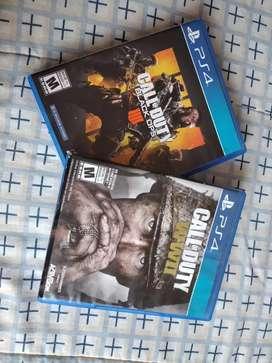 Vendo videojuegos de Call of Duty