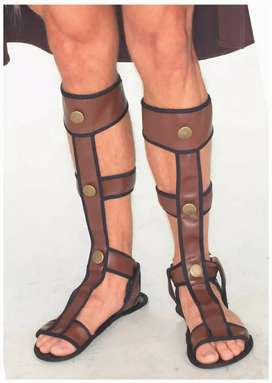 Sandalias para disfraz de Spartan Romano Troyano Gladiador