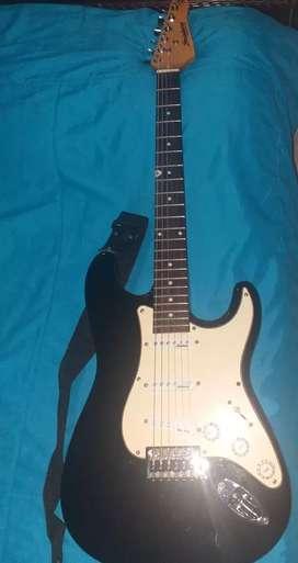 Guitarra eléctrica stringberg cuerdas nuevas + amplificador