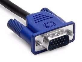 Cable Vga 15 Metros Con Filtro Monitor Proyector Tv 15 Pines