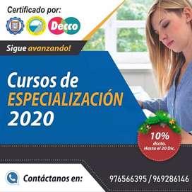 Cursos de Especialización 2020