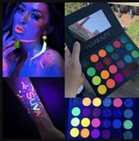 Paleta neon maquillaje