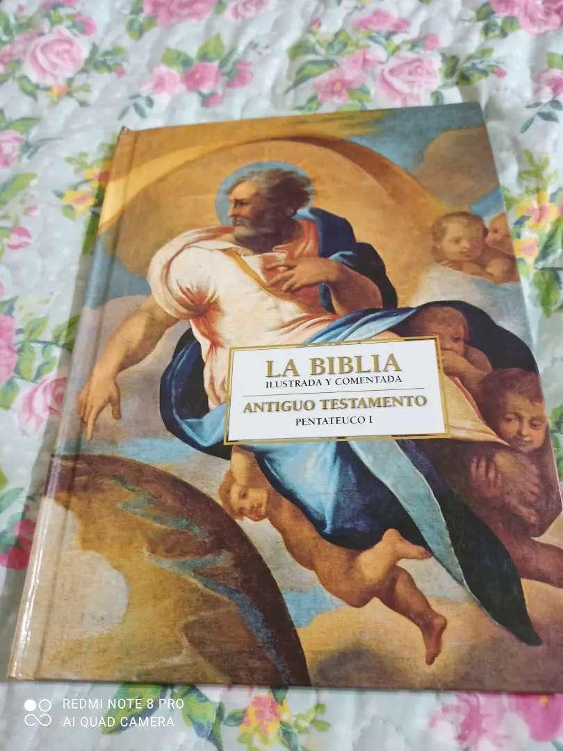 LA BIBLIA ILUSTRADA Y COMENTADA, ANTIGUO Y NUEVO TESTAMENTO NUEVO 16 TOMOS DE 211 HOJAS CADA UNO
