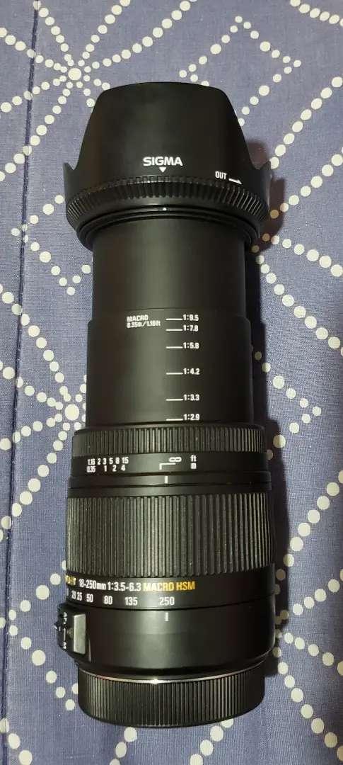 Lente sigma 18-250mm  para canon 0