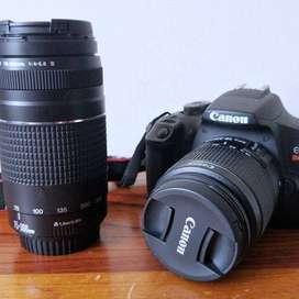 Vendo Cámara Canon Rebel T7 con lentes