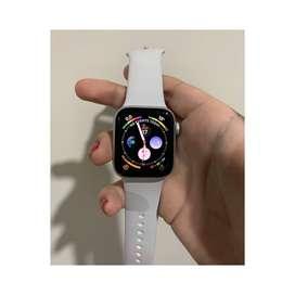 Iwatch series 4 plateado bandas blancas 40MM Modelo A1977