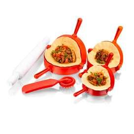 Set 3 Moldes para empanadas, cortador y rodillo Chef Master