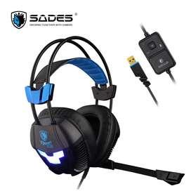 Audifono Gaming Sades. XPower Plus