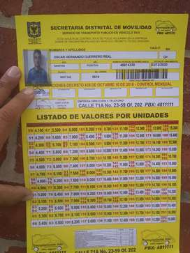 Busco empleo de conductor taxi tengo experiencia laboral licencia C2 edad 52 Años Vivo en el barrio San Francisco sur