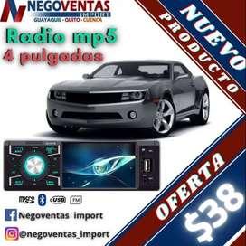 RADIO PARA CARRO DE 4 PÚLGADAS  HD REPRODUCTOR DE VIDEO POR USB SD AUX BLUETOOH NUEVO DE OFERTA