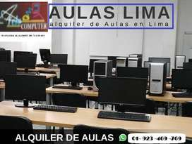 ALQUILER AULAS y Laboratorio JESUS MARÍA Cursos Charlas dsde S/29X Hra