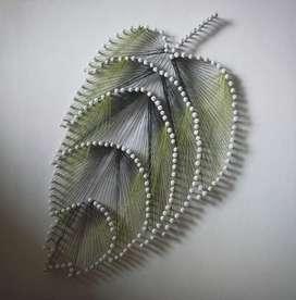 Cuadro decorativo MDF hoja 30x30 cm