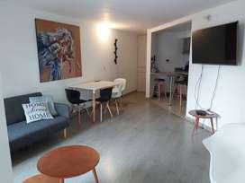 Arriendo Apartamento Amoblado en Cantalejo, 2 habitaciones, 2 baños, moderno, iluminado