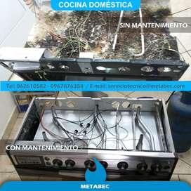 Reparación y mantenimiento de cocinas a domicilio Ibarra Imbabura Ecuador