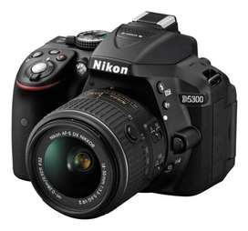 Nikon D5300 18-55mm Vr Kit Dslr Wifi Color Negro