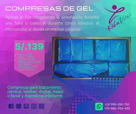 COMPRESAS DE SEMILLAS Y DE GEL
