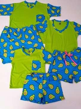 pijama para toda la familia set de 3