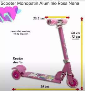 vendo monopatín aluminio de 3 ruedas
