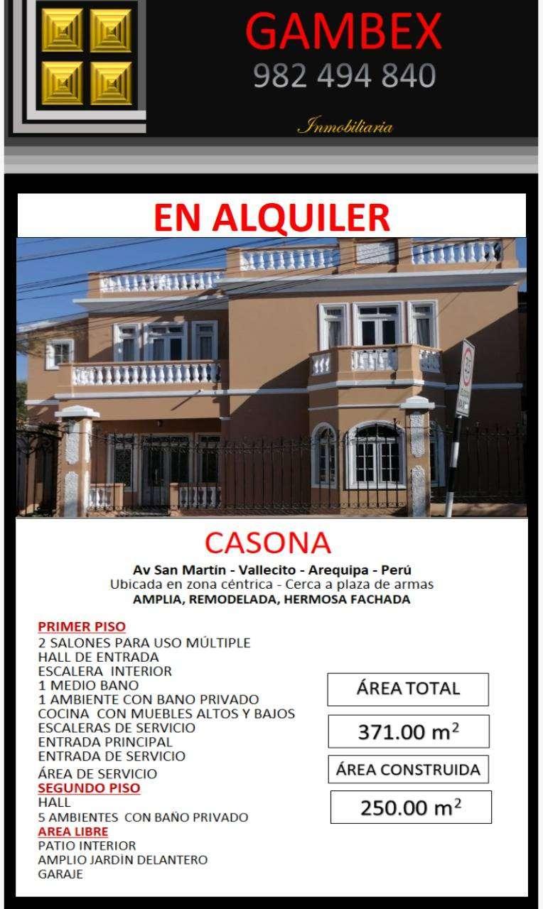 Alquiler de Casona, ideal para empresas