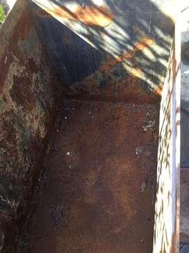 Cajon de hierro espesor de las planchas 5 m/m