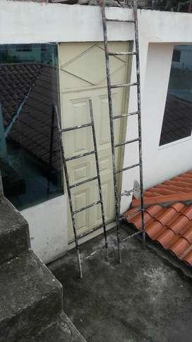 Vendo 2 Escaleras de Tubo Galvanizado
