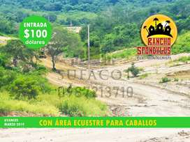 Venta de Solares de Campo, Podrás Sembrar Tus Plantas Frutales, Lotes desde 1.000m2 con 100 usd De Entrada, Sur Manta,S1