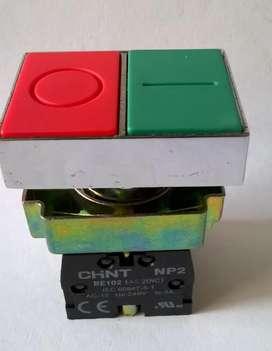 Pulsador Doble Rojo Verde 22mm Nuevo