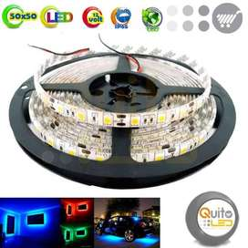 Cinta Luz Led Unicolor 5050 12v Voltios 5mt Camiones Tuning QUITOLED