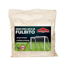 2 Redes Malla para Fulbito Futbol Sala Medida Oficial Fabricantes