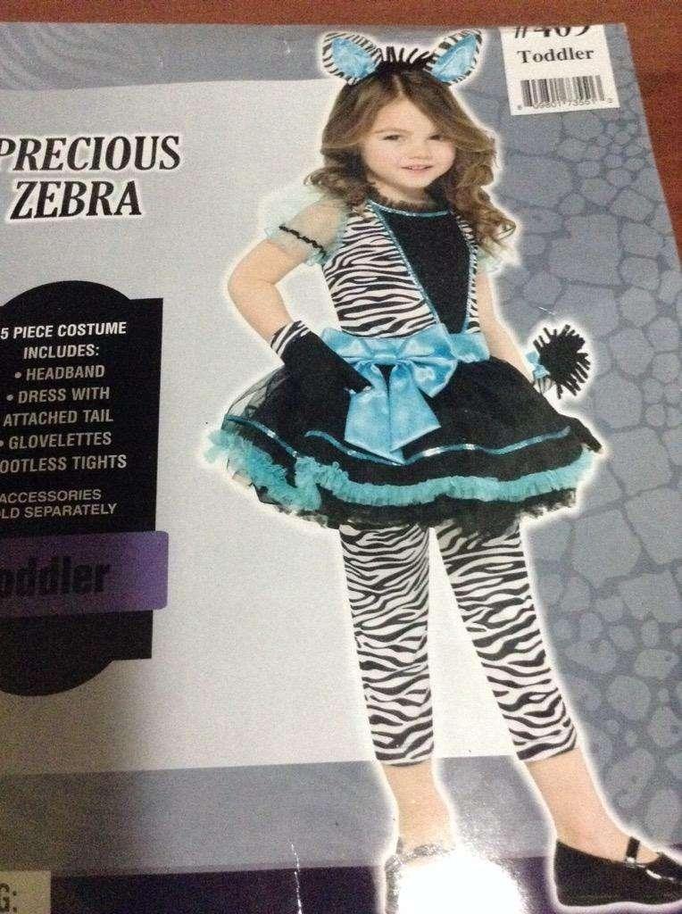 Disfraz Nuevo de Zebra para Niña 0