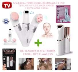 COMBO depilador cejas + depilador facial recargable portátil