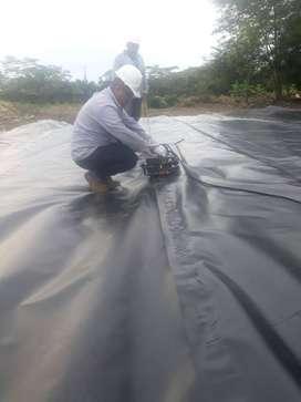Impermeabilizacion en geomembrana y obras civiles