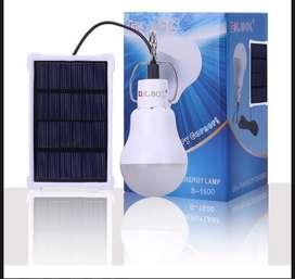 oferta de bombillos led con panel solar