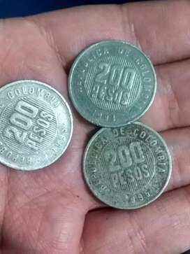 MONEDAS DE $200 AÑO 1995 Y 1994 El precio es negociable