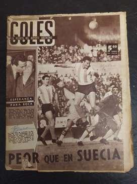 revista goles numero 618 del año 68 cepia , argentina copa roca