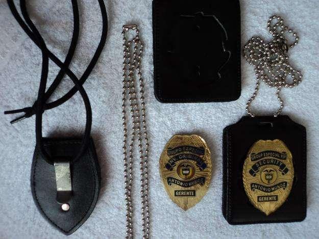 PLACAS PARA PERSONAL DE SEGURIDAD CRIMINALISTICA E INVESTIGADORES 0
