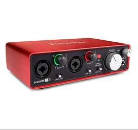 Focusrite Scarlett 2i2 (2ª Generación) Interfaz De Audio Usb