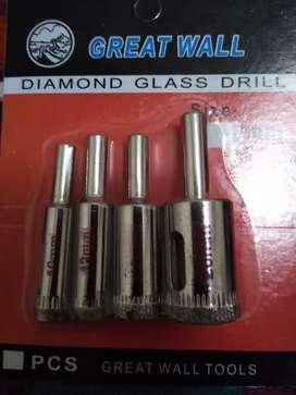 Mechas copa diamantadas para vidrio