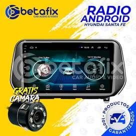 RADIO ANDROID HYUNDAI SANTA FE 2019 GPS BT USB WIFI BETAFIX DESDE