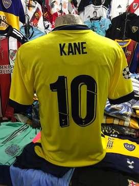 Camiseta tottenham amarilla kane 10 s y M