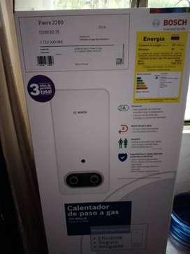 Calentador a gas nuevo marca Bosch