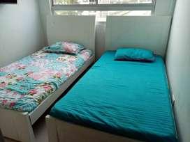 Se venden 2 camas sencillas de madera Roble