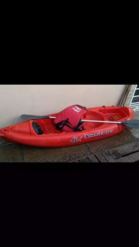 Kayak k1 con Remo y chaleco
